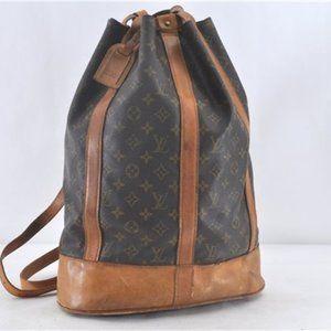 Auth Louis Vuitton Randonnee Gm w/wallet pouch
